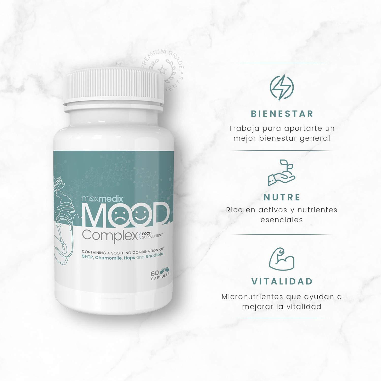 Mood Complex - Suplemento Natural Para Controlar El Estado De Ánimo - Complejo De Vitaminas Y Minerales Diseñado Para Aliviar El Estrés: Amazon.es: Salud y ...