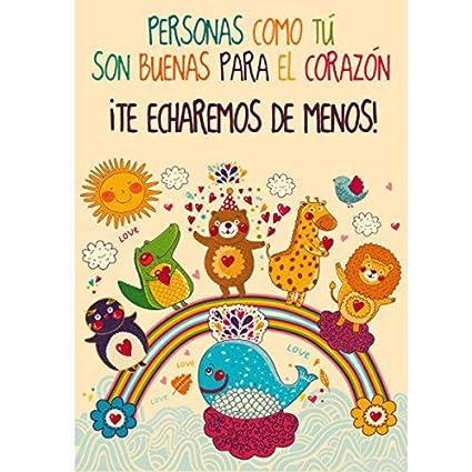 CGN Tarjeta Despedida Animales 15x23cm: Amazon.es: Juguetes ...