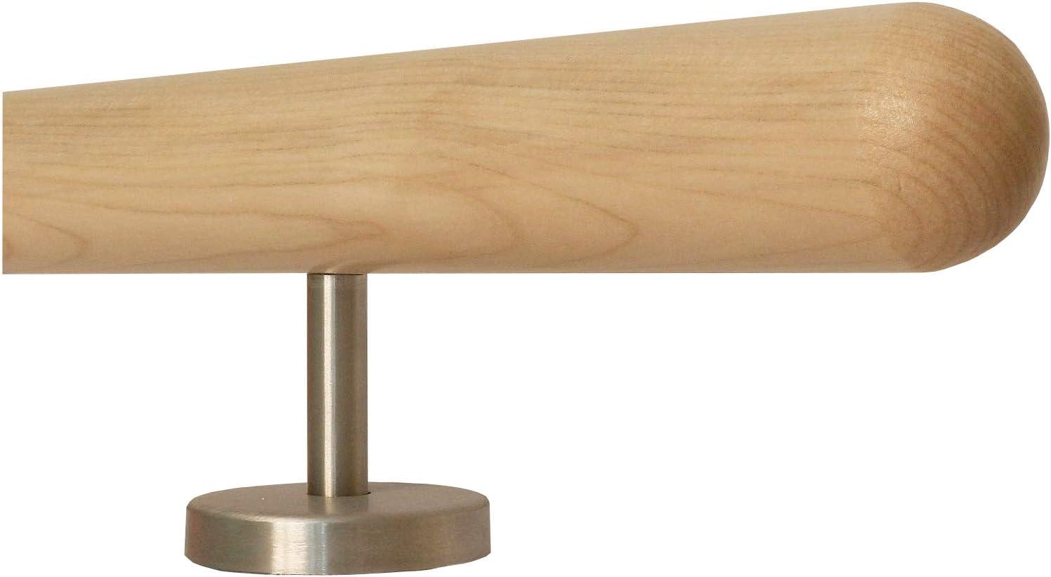Ahorn Holz Treppe Handlauf Gel/änder Griff gerade Edelstahlhalter 50 cm mit 2 Halter Halbkugel gefr/äst L/änge 30-500 cm aus einem St/ück//Beispiel