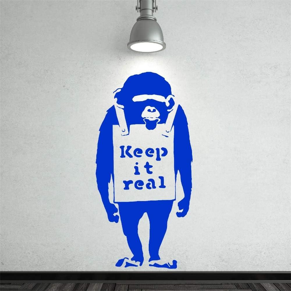Ajcwhml Vinilo Desmontable Banski Chimpancé con Mantiene Cita Real ...