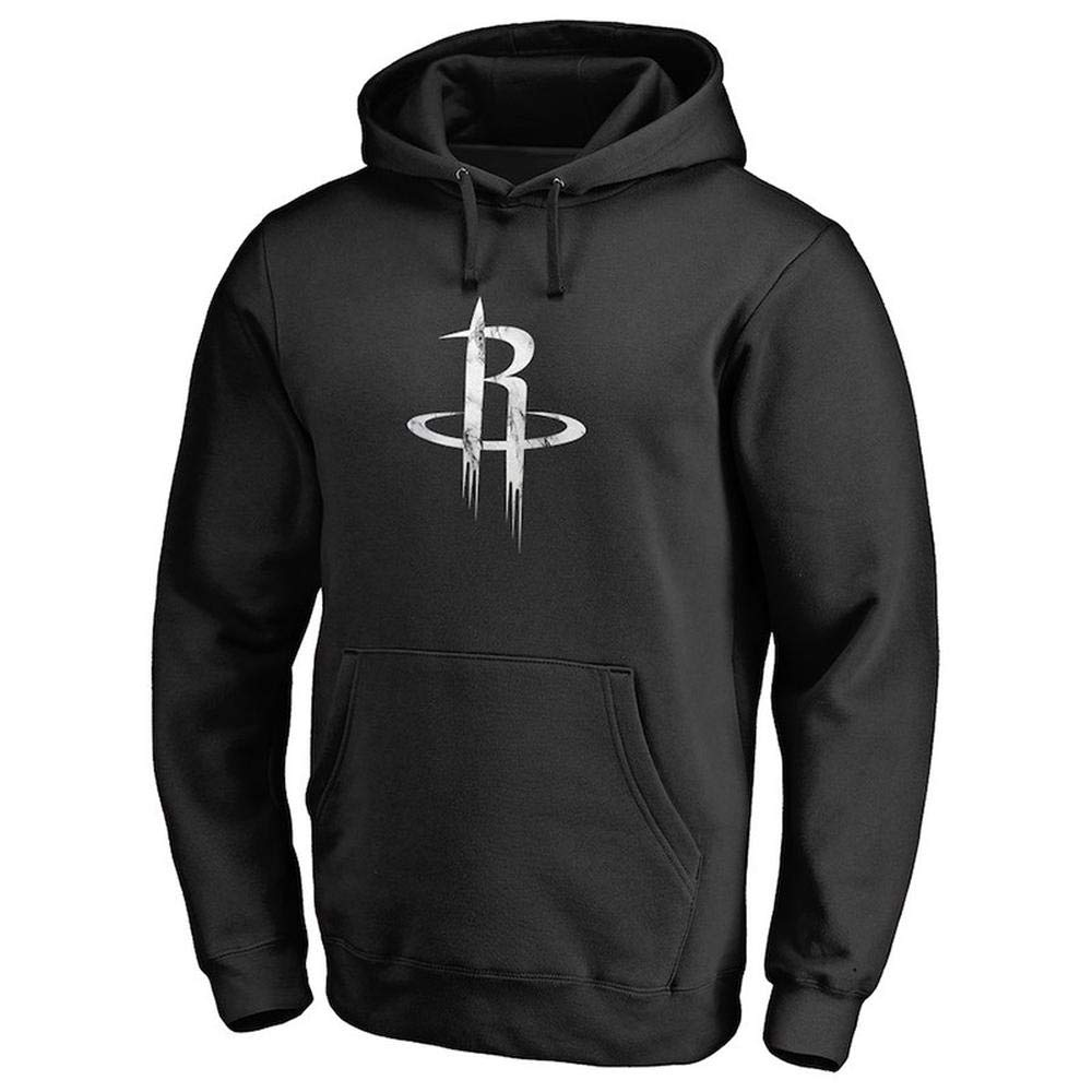 Ropa De Entrenamiento De Los Jerseys De Invierno De La Hoodie Rockets para Hombre para Uso Diario Y Juegos De Baloncesto Black-S