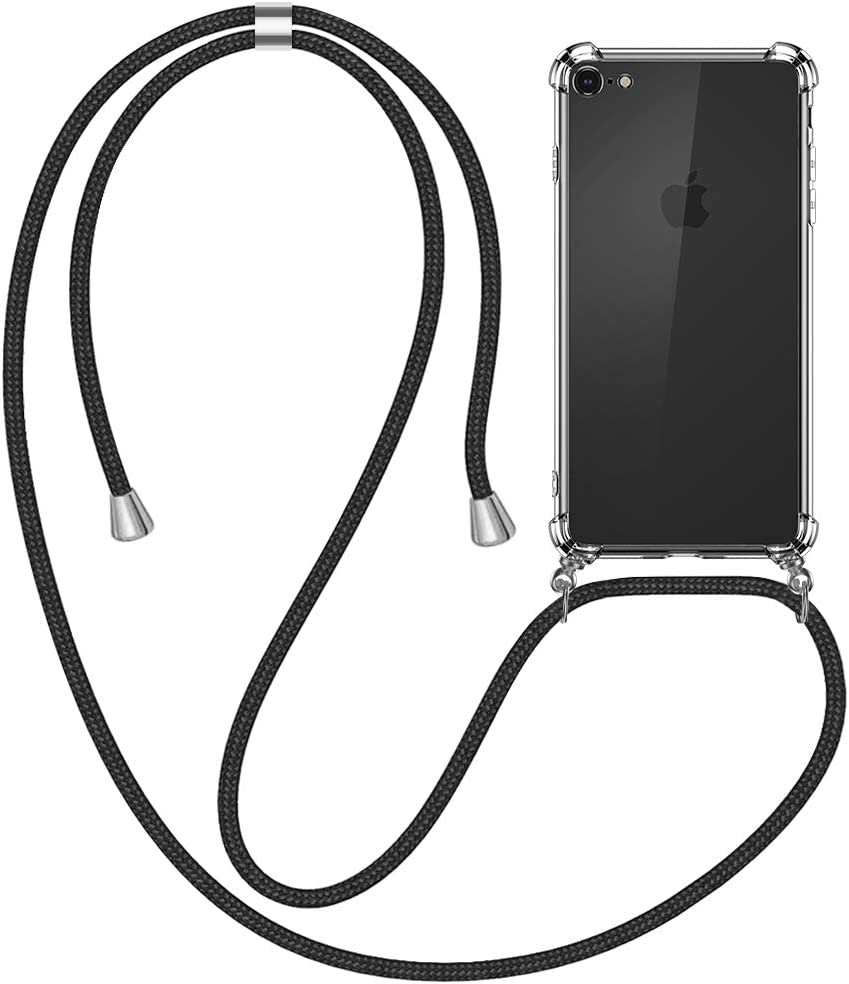 Carcasa TPU Suave Silicona Case con Correa Colgante Ajustable Collar Correa de Cuello Cadena Cord/ón Verde Nupcknn Funda Marmol con Cuerda para iPhone 11