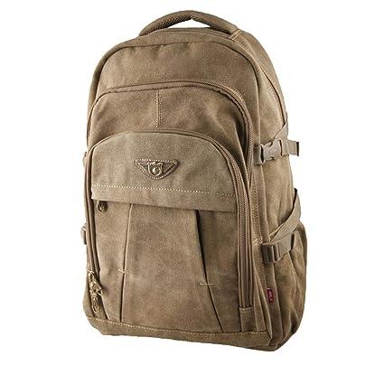 Mochila casual retro de los hombres, mochila de lona portátil de gran capacidad de 40
