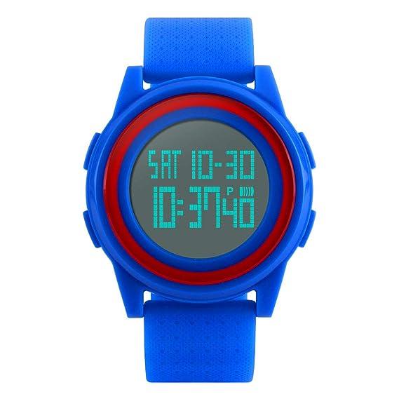 Reloj digital impermeable Farsler con forma cuadrada y hecho
