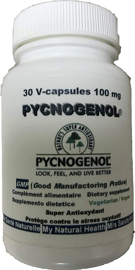 PYCNOGENOL 100 mg (por cápsula) 30 cápsulas vegetales (dosificación para 1 mes)