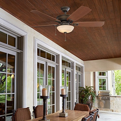 Harbor Breeze Echolake 52-in Oil-Rubbed bronze Indoor/Outdoor Ceiling Fan with Light Kit