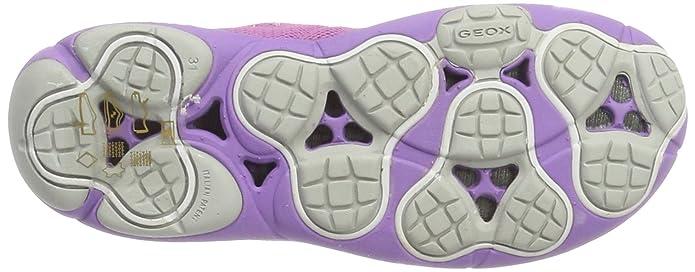 Geox j nebula a, scarpe da ginnastica basse bambina, bianco (whitec1000), 32 eu