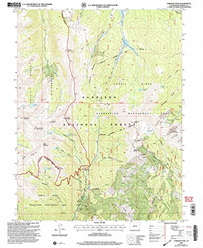 Fairview Peak CO topo map, 1:24000 scale, 7.5 X 7.5 Minute, Historical, 2001, updated 2004, 26.7 x 21.9 IN - - Square Fairview