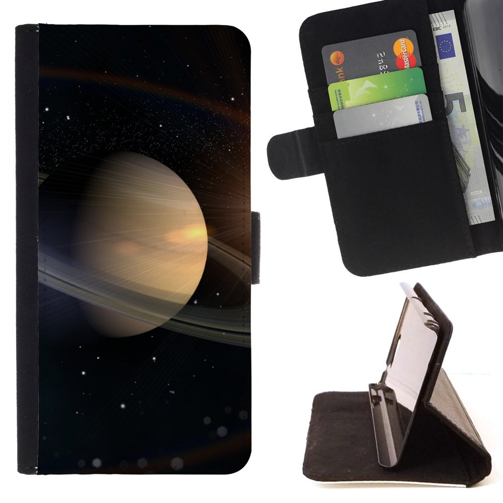 STPlus Planet Saturn Solar System Space Wallet Card Holder Cover Case for Samsung Galaxy J7 V/Galaxy J7 Perx