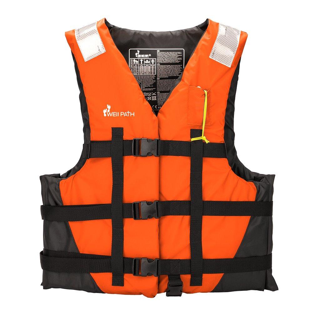 ライフジャケットベスト、ナイロンInflatable Swim Vest for安全マリンスポーツダイビング水泳ハワイアン X-Large  B07CQKMH5G