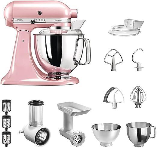 KitchenAid Artisan 5KSM175 Starter - Robot de Cocina (Incluye picadora de Verduras y Accesorios estándar), Color Rosa: Amazon.es: Hogar