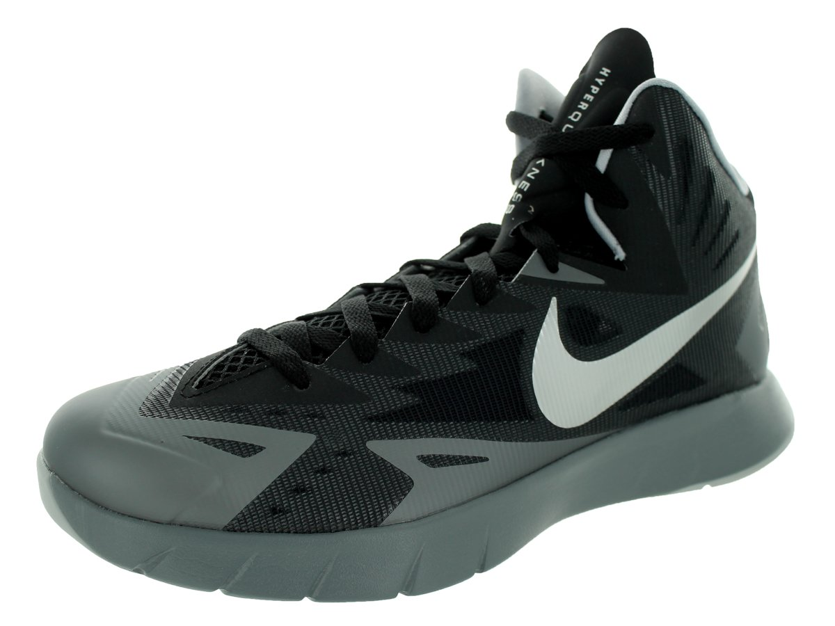 new concept 0df92 cca91 Galleon - Nike Men s Lunar Hyperquickness Black Mtllc Slvr Cl Gry Wlf Gry  Basketball Shoe 7.5 Men US
