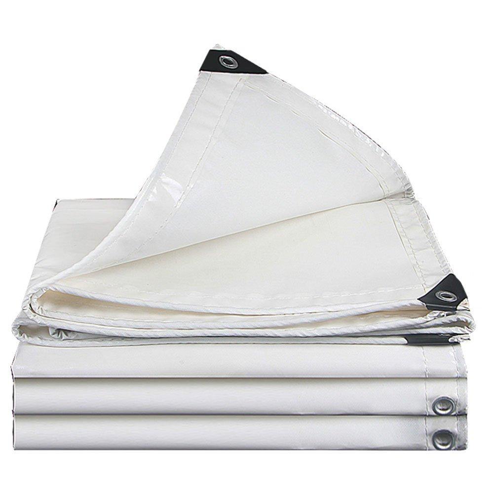 LQQGXL ターポリン、厚い日焼け止め防水テント布トラック防塵着用高温ナイフ布キャンバスアンチエイジング 防水シート (色 : 白, サイズ さいず : 4x5m) 4x5m 白 B07JWBKN7S