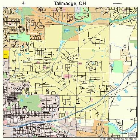 Amazon Com Large Street Road Map Of Tallmadge Ohio Oh Printed