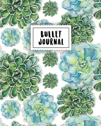 bullet-journal-turquoise-cactus-watercolor-150-dot-grid-pages-size-8x10-inches-with-bullet-journal-sample-ideas
