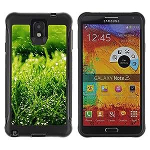 Suave TPU GEL Carcasa Funda Silicona Blando Estuche Caso de protección (para) Samsung Note 3 / CECELL Phone case / / Nature Green Grass /