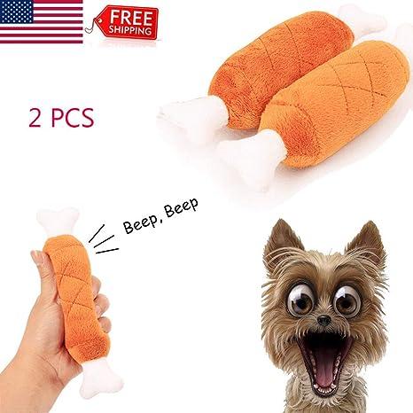 1pc Pet Dog Puppy Toys Chicken Leg Design Small Dogs Chew Squeak Plush Sound Toy