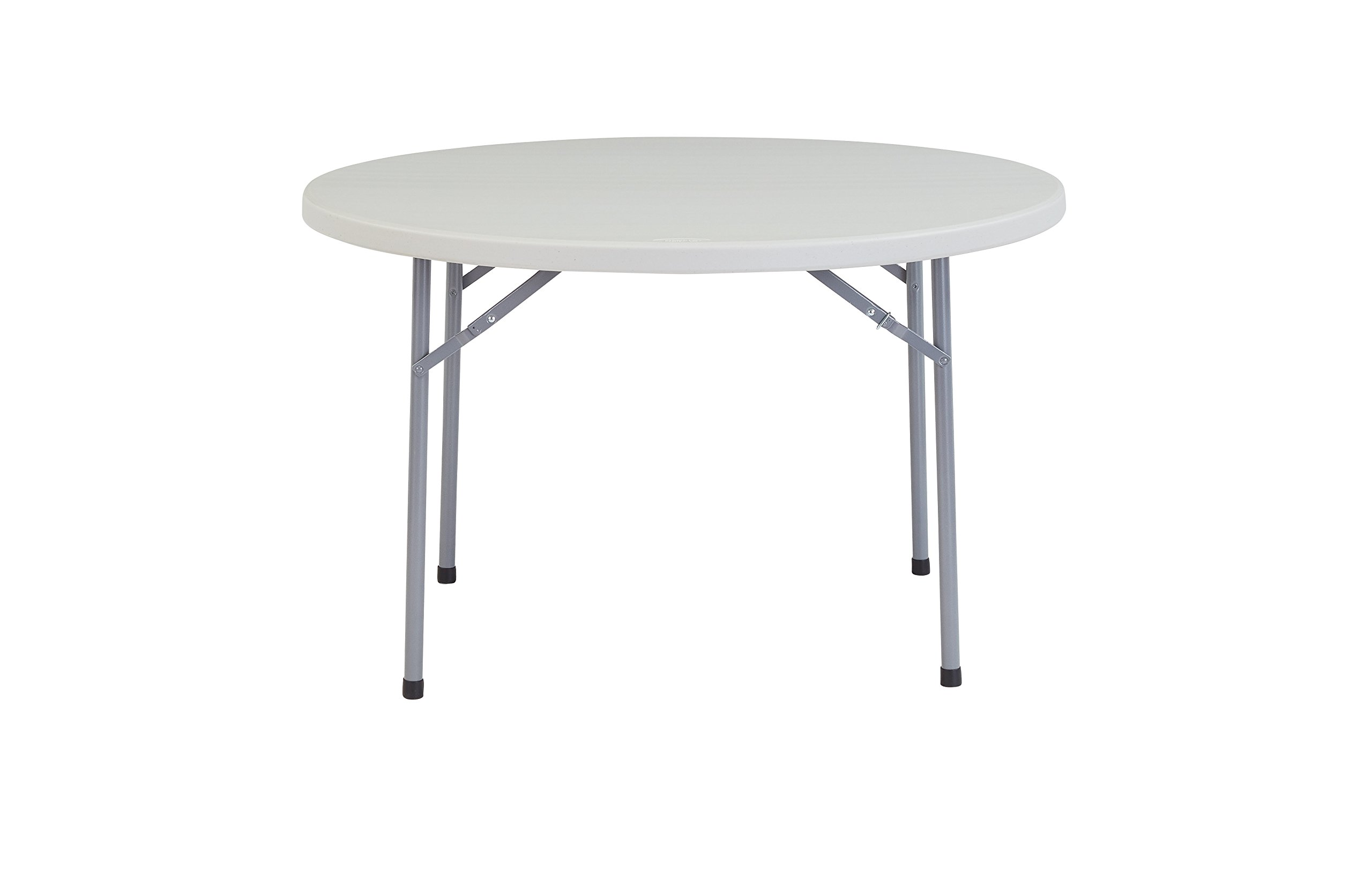 National Public Seating 48'' Heavy Duty Round Folding Table, Speckled Grey, 1000 lbs Capacity by National Public Seating