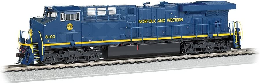 Bachmann GE ES44AC DCC Sound Value Equipped Diesel Locomotive - N & W #8103 (with operating ditch lights)- HO Scale