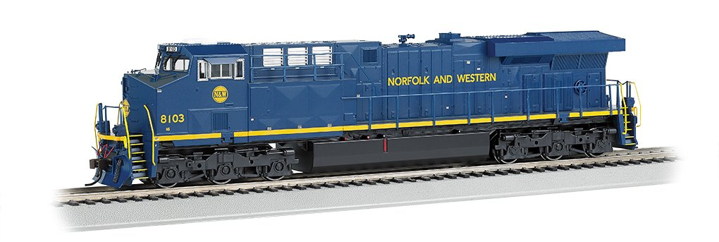 Bachmann GE ES44AC DCC Sound Value Equipped Diesel Locomotive - N & W #8103 (with Operating Ditch Lights)  - HO Scale
