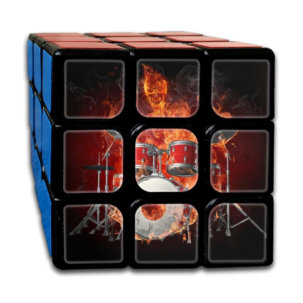 AVABAODAN Rock Skull Rubik's Cube Original 3x3x3 Magic Square Puzzles Game Portable Toys-Anti Stress For Anti-anxiety Adults Kids