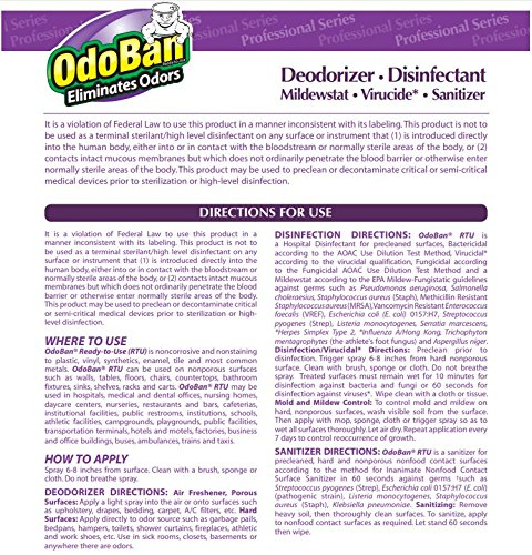 OdoBan 911162-G Disinfectant Odor Eliminator and All Purpose Cleaner Concentrate, Lavender Scent, 128 oz by OdoBan (Image #4)