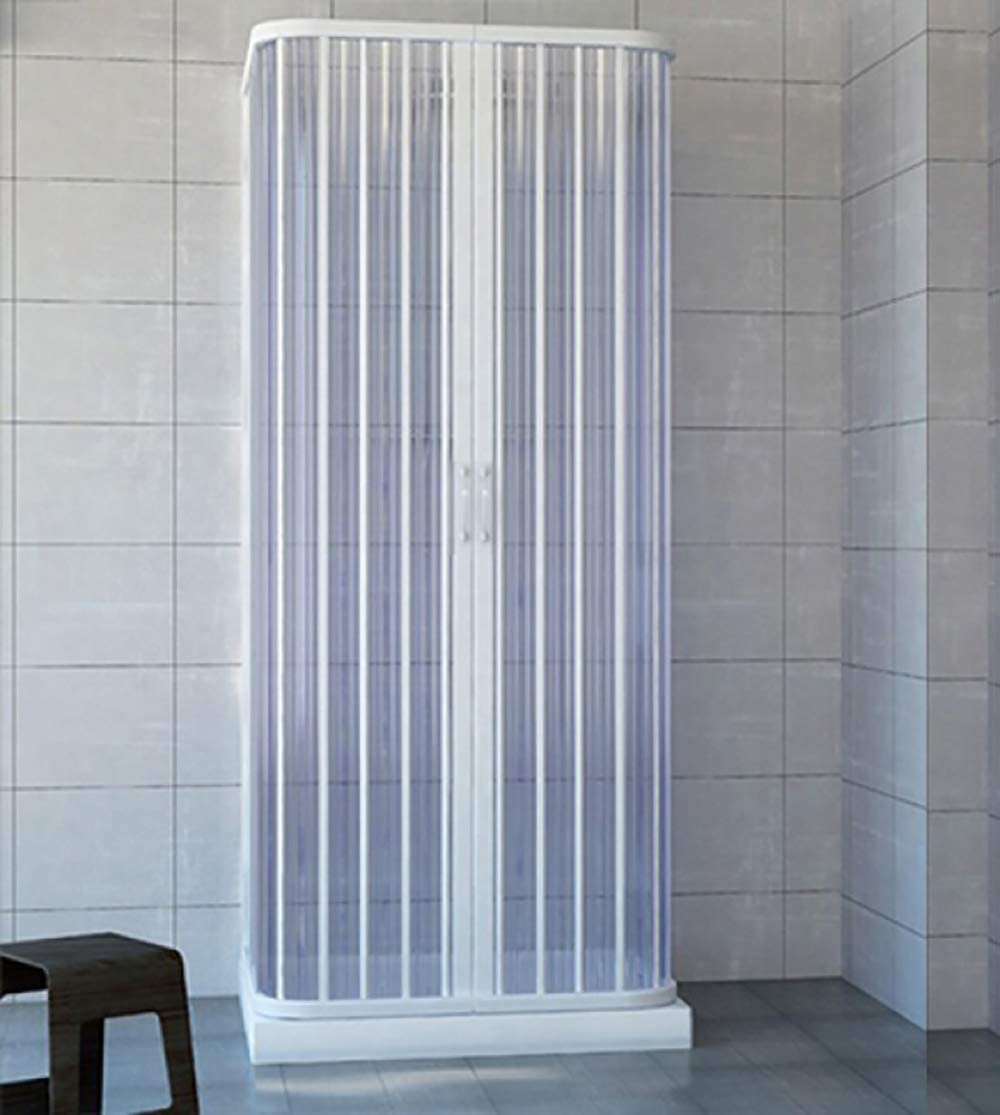 Mampara de ducha de 3 lados con fuelle de 70x70x70 reducible a medida, en acrílico pvc: Amazon.es: Bricolaje y herramientas