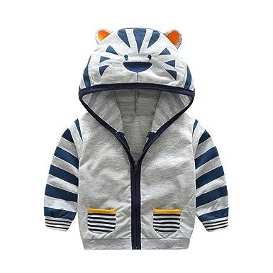 969a87820cdc6 Koly Veste à Capuche Vêtements Enfant Bébé Garçon Mignonne, Hoody Coat en Coton  Chaud Baby