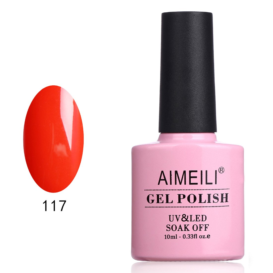 AIMEILI Soak Off UV LED Gel Nail Polish - Lilium Pumilum (117) 10ml