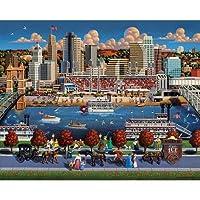 Jigsaw Puzzle - Cincinnati 500 Pc By Dowdle Folk Art