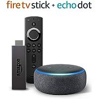 Amazon Fire TV Stick Streaming Media Player with Alexa Voice Remote + Amazon Echo Dot