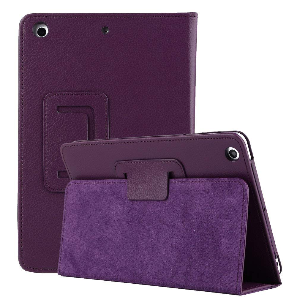 New iPad air 3 10.5'' 2019 Stand Case,Miya Unique Folding Stand Slim Lightweight Luxury PU Leather Flip Case Anti-Scratch Cover for iPad Air 3 10.5 Inch 2019 Release/iPad Pro 10.5 Tablet-Purple