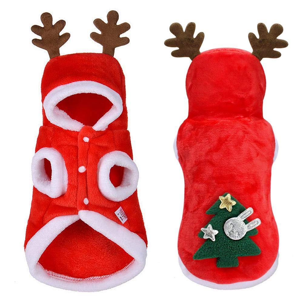 Festive Regali AOLVO Cute Reindeer Pet Elk Christmas Dog Xmas Outfit Fashion Puppy Coat Apparel Tuta da Donna Caldo Tuta Party Forteddy Chihuahua Yorkshire Terrier