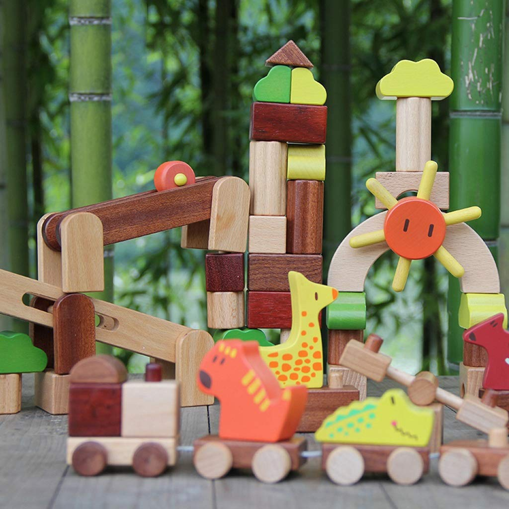 HXGL-Toys Wooden Toys Animal Parks Building Blocks Puzzles Early Education Gifts Pieces (Color : Multi-Colored) by HXGL-Toys (Image #5)