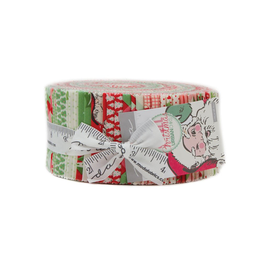 Swell Christmas Jelly Roll with 40, 2.5 Precut Strips from Moda Moda Fabrics 31120JR