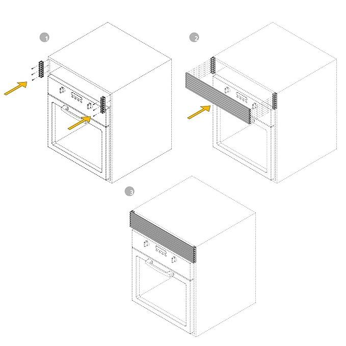Emuca 8934862 Rejilla de Ventilación para Frigorífico/Horno, Aluminio anodizado mate: Amazon.es: Bricolaje y herramientas