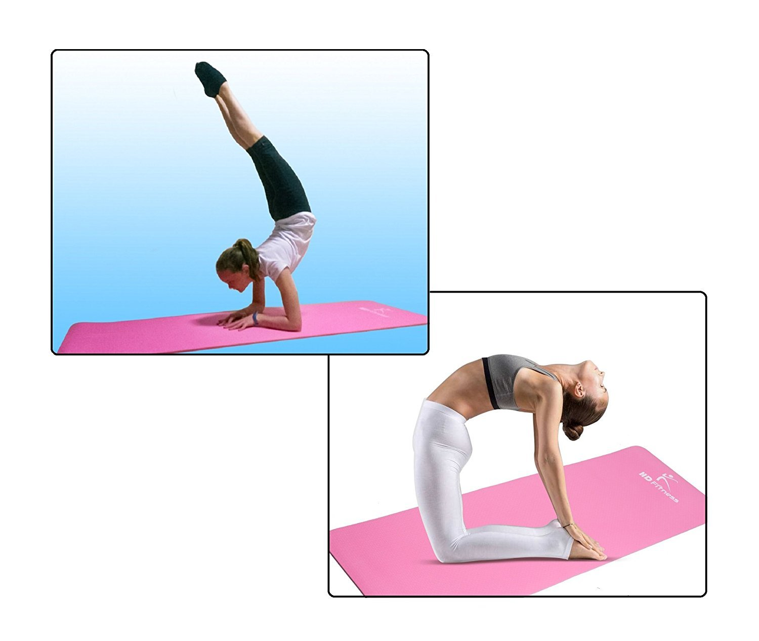 Fitness Yoga mat HD Fitness, ideal para pilates,Yoga, fitness , dimensiones:180cm*61cm,Espesor 0.8mm: Amazon.es: Deportes y aire libre