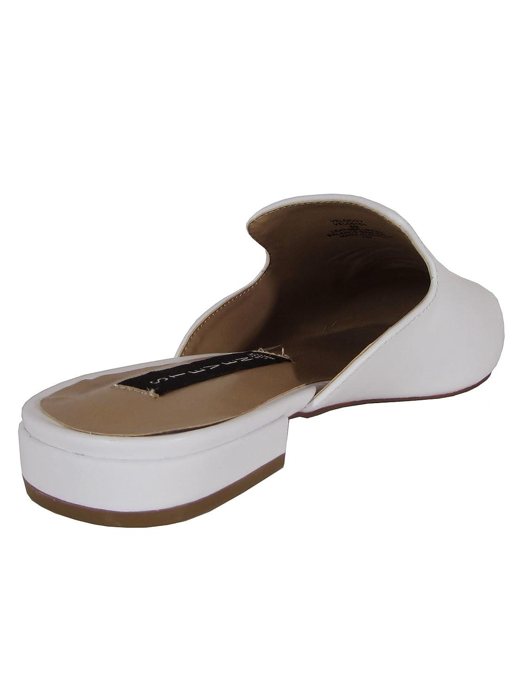 White Leather STEVEN by Steve Madden Womens Velocity Slip On Mule Shoe US 8