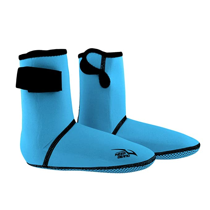 Lixada 3MM Neoprene Diving Socks Boots Water Shoes Beach Booties Snorkeling Diving Surfing Boots for Men Women