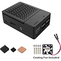Case iUniker Raspberry Pi Fan Case With Cooling Fan Cover for Pi 3/ 2 B+ (Black)