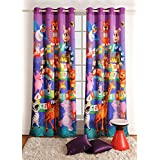 Printed Kids Window Curtain Digital Prints Blackout 48x60 Inch Set of 2 Curtain Panel,KCURW-194