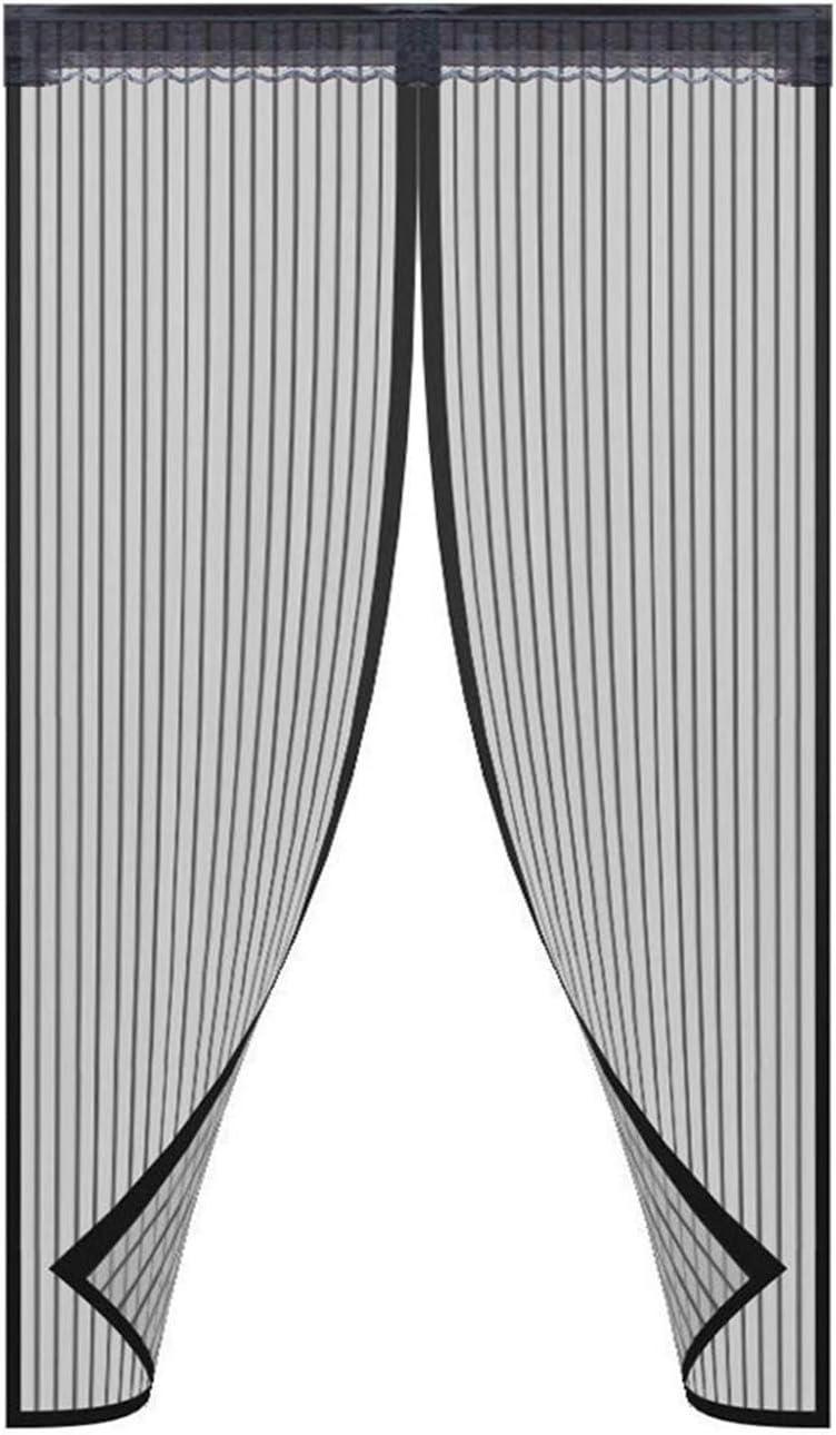 cierre autom/ático apretado Puerta mosquitera magn/ética de 36 x 83 pulgadas manos libres marco completo de velcro color negro mantiene los insectos fuera