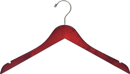 """10 Cherry Wood Hangers Wooden Hanger Top Shirt Coat 17 /"""""""