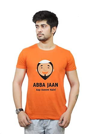 PosterGuy Abba Jaan Fathers Day (Urdu) Orange T-Shirt