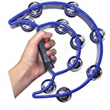TANG SONG Double Row Tambourine Metal Jingles Hand Held Percussion Instrument For Kids And Adults Great For Party Bar…