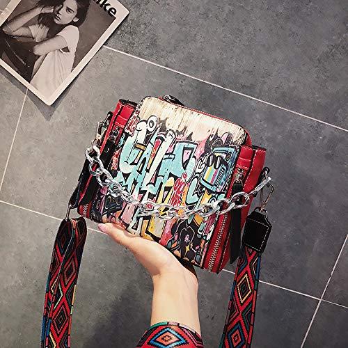 épaule la WSLMHH Version nbsp;Chao Mode hop Large Rouge de rétro Hip coréenne Bande Messenger personnalité Sauvage Sac 5OOTdrx
