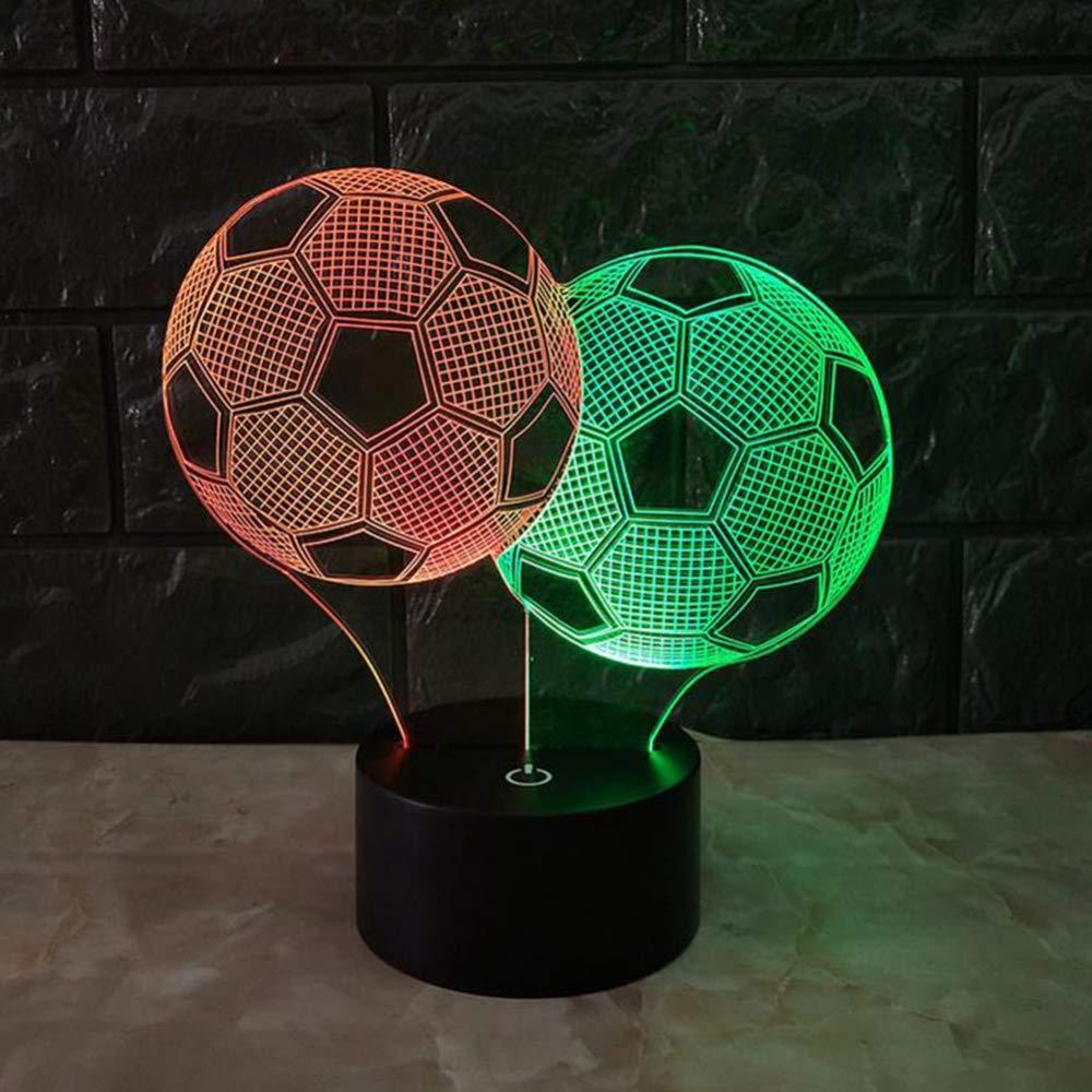 QJXSAN 3D Vision Nachtlicht Desktop Tischlampe Deckenleuchte Zwei Farbige Bunte Touch LED Atmosphäre Licht Geburtstagsgeschenk Acryl Bord