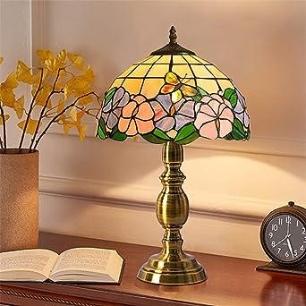 Lámpara de mesa estilo Tiffany de 12 pulgadas Pantalla de cristal ...