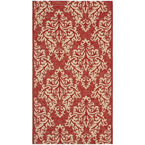 Safavieh Courtyard Collection CY6930-28 Red and Cream Indoor/ Outdoor Area Rug (2' x 3'7