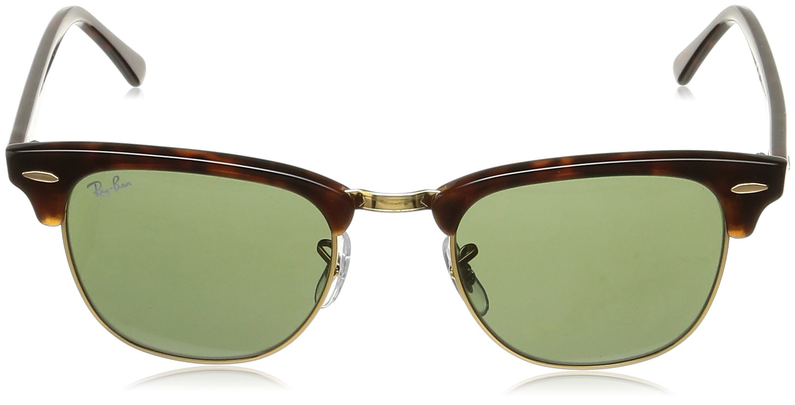 Ray-Ban CLUBMASTER - MOCK TORTOISE/ ARISTA Frame CRYSTAL GREEN Lenses 49mm Non-Polarized by Ray-Ban (Image #2)
